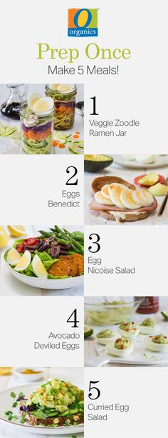 Take the stress out of lunch time! Get five healthy O Organics® egg recipes in minutes of meal prep!