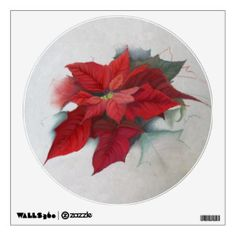 Poinsettia Christmas Oil Painting - - -  A striking #seasonal #digital #oil #painting of a #Poinsettia #flower in rich tones of #red, #burgundy, #wine, #peach #pink, and #green, perfect for #Christmas or any other #winter #holiday. - - -    Check out everything else at my Z-store!  http://goo.gl/ZdWOvk