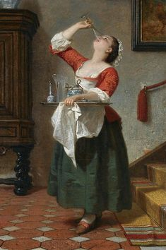 Wilhelm August Lebrecht Amberg (German painter) 1822 - 1899 Das Naschkaetzchen (aka The Property of a Noble Lady), 1862 64 x 46 cm. signed and dated l. Amberg the reverse of the canvas inscribed with title and the painter's name private collection Classic Paintings, Old Paintings, Paintings I Love, Watercolor Paintings, 18th Century Clothing, 18th Century Fashion, 17th Century, Arte Peculiar, Classical Art