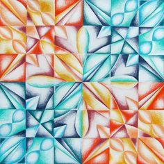 Geometric Radial Balance Study w/ Colored Pencils - Conway High School Art Project Drawing Projects, Drawing Lessons, Art Lessons, Middle School Art Projects, Art School, Secondary School Art, Intro To Art, Symmetry Art, 7th Grade Art