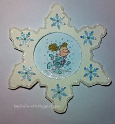 Stempeleinmaleins: Schneeflockenkarte - Snowflake card