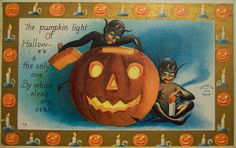 The Vintage witch upon her flying broomstick, black cats and evil owl will invite the Halloween spirits. Description from got-blogger.com. I searched for this on bing.com/images
