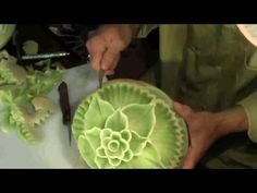 honey dew melon fruit carving 2