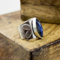 Sterling silver and Faceted Blue Flash Labradorite by gemheaven