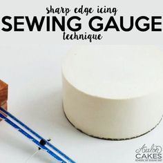 Tutorial: how to make perfect sharp edges on cakes! Click through to see how to get this look on your cakes!