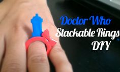 Doctor Who Stackable Ring Tutorial and Template   byElise Jimenez I was browsing Etsy and came across these adorable ringsby LicketyCutand I was inspired. I don't have acrylic or a laser cutter, but I do have a bunch of colored shrink plastic and an exacto knife. So, I decided to make some templates and give it a shot and naturally my first design choice was Doctor Who. Read More [[MORE]] Here are the steps: 1. Print the free printable templates. In the zip file there is a .png fi...