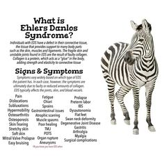 #EhlersDanlosSyndrome Awareness #EDS ~There are at least 6 varieties of Ehlers Danlos and not everyone has every symptom.