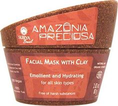 Facial Mask with Clay is a revitalizing, moisturizing and antioxidant rich treatment for normal & dry skin.