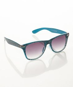 Take a look at this Blue Lace Sunglasses by Eye Design on #zulily today!