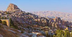 Vila e Castelo de Uçhisar na Capadócia | Turquia #Capadócia #Turquia #europa #viagem