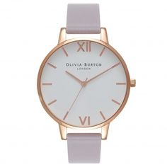 Olivia Burton watch, rose gold with grey lilac strap