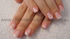 Gel Nails. French Nails. Bridal Nails. Wedding Nails. Stamping Nail Art.