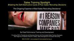 Sales Training Spotlight: Breaking the Self Destructive Cycle of Poor… https://www.slideshare.net/kevlink01/sales-training-spotlight-breaking-the-self-destructive-cycle-of-poor-sales-recruiting-decisions