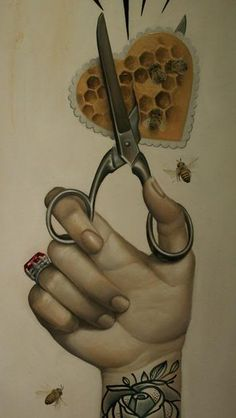 Alex Garcia, scissors and bees.