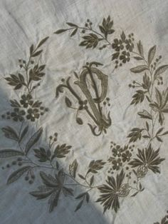 Exquisite Antique French Hand Embroidered Linen Baby Sheet Pillowcase | eBay