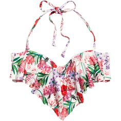 H&M Bikini top ($15) ❤ liked on Polyvore featuring swimwear, bikinis, bikini tops, bikini, swimsuits, biquini, ruffle bikini, ruffle swimsuit, bikini bathing suits и ruffle top swimsuit