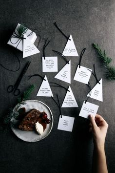 gift tags with a side of christmas pudding! this years FREE printable christmas gift tags & place cards are now live on the G&F site! & don't forget to tag me or # your creations! x by gatherandfeast Noel Christmas, Christmas Crafts, Christmas Decorations, Christmas Place Cards, Christmas Flatlay, Christmas Photos, Free Printable Christmas Gift Tags, Free Printable Tags, Minimal Christmas
