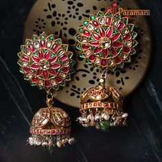 15 Brands That Have Exquisite Jewellery Collection! South Indian Bridal Jewellery, Indian Wedding Jewelry, Bridal Jewelry, Jhumka Designs, Temple Design, Wedding Function, Jewelry Boards, Jewelry Branding, Designer Earrings