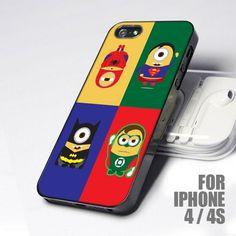 Despicable Minion Super Hero design for iPhone 4 or 4s case