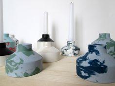 Keramik Iris DegenKerzenst?nder aus Porzellan