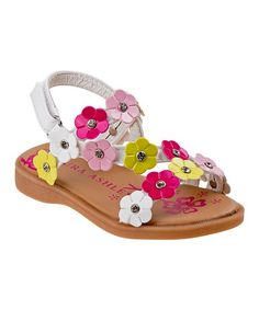 32ecd738b Laura Ashley® White   Multicolor Mini-Flower Sandal