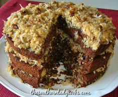 German chocolate cake is an old fashioned classic cake recipe your family and friends will love. This cake is wonderful for any event or holiday occasion. Frosting Recipes, Cake Recipes, Dessert Recipes, Snack Recipes, Healthy Recipes, Kinds Of Desserts, Just Desserts, Fancy Desserts, Cake Cookies
