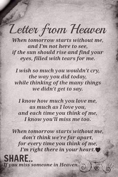 ~ Letter from Heaven Son Quotes, Prayer Quotes, Wisdom Quotes, Words Quotes, Life Quotes, Sayings, Text Quotes, Brother Quotes, Letter From Heaven