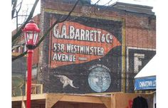 Barrett & Co. sign is on Main Street on the west side. An infill now covers it. It was uncovered in early but covered again by the spring of Photo courtesy of Heritage Vancouver.