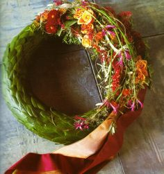 how to make a biodegrable wreath