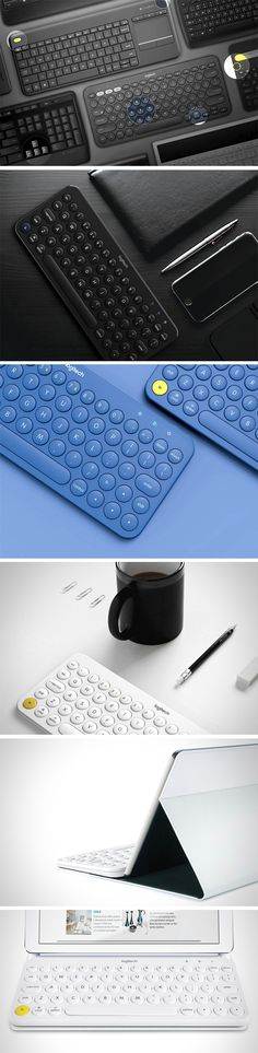 This keyboard concept by Jinwon Yook is a tasteful twist on the device with less-is-more styling. Round, soft keys and a tight, durable look also make it more friendly and approachable than the techy look of other models. It's one you won't mind others noticing!