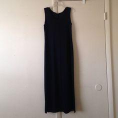Women's black jersey maxi dress size MED Women's black jersey maxi dress size MED, side slit Vintage Dresses Maxi