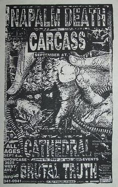 GigPosters.com - Napalm Death - Carcass - Cathedral - Brutal Truth