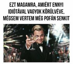 Ennyi 😂#idiota #dicaprio #eztazokra #voki #vöki #instagramm #instasize Funny Fails, Funny Jokes, Bad Memes, Totally Me, Morning Humor, Leonardo Dicaprio, Haha, Funny Pictures, Positivity