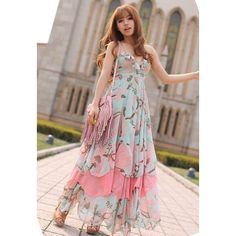 Bohemian Flouncing Harnesses Chiffon Women's Dress, AS THE PICTURE, ONE SIZE in Chiffon Dresses | DressLily.com