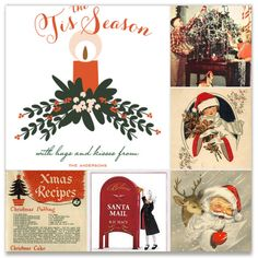 Vintage Christmas Inspiration Board, curated by Sara at Minted