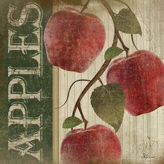 Green Apples Print by Jennifer Pugh