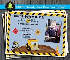 Construction Birthday Invitation - Boy BDB009