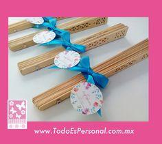 abancios madera liston azul turquesa detalles boda evento mesa calor invitados regalo detalle bolo madrina novia