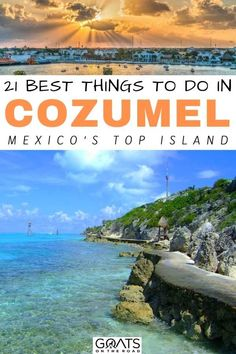 Heading to the tropics to escape the cold? Here are the 21 best things to do in Cozumel, Mexico! Find out where to go and explore in this stunning island of Yucatan. | #Mexico #MexicoTravel #beautifuldestinations Cozumel Mexico, Mexico Vacation, Cruise Vacation, Mexico Travel, Group Travel, Family Travel, Cool Places To Visit, Places To Go, Travel Guides