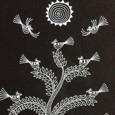 Worli Painting, Canvas Painting Tutorials, Fabric Painting, Pichwai Paintings, African Art Paintings, Madhubani Art, Madhubani Painting, Rajasthani Art, Art Cart