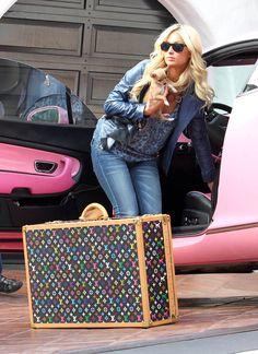 Louis Vuitton trunk monogram multicolor, Paris Hilton and her pink Bentley Louis Vuitton Trunk, Louis Vuitton Monogram, Vuitton Bag, Louis Vuitton Handbags, Louis Vuitton Online, Early 2000s Fashion, Louis Vuitton Sneakers, Monogram Backpack, Handbags Online