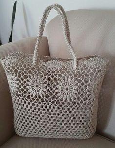 tığ işi kolalı el çantası modeli