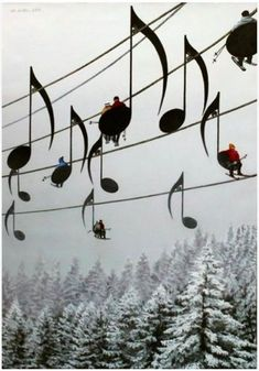 Ski Notes !!! Love this idea !!!