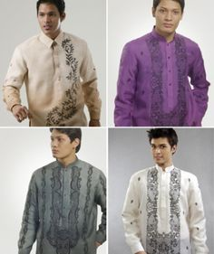 might do purple or silver barong for the groomsmen, alex in traditional white Wedding Tux, Wedding Prep, Dream Wedding, Barong Wedding, Wedding Ideas, Filipiniana Wedding, Barong Tagalog, Filipino Wedding, Filipino Fashion