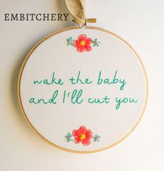 Subversive Cross Stitch Funny Cross Stitch Hoop by Embitchery