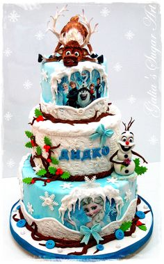 """Frozen"" Cake.  by GaliaHristovaGuGi.  Amazing!"