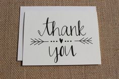 Thank You Cards with Envelopes / Wedding / Shower / Engagement / Set of 10 - Handlettering - Rustic Wedding Stationery, Karten Diy, Cute Cards, Homemade Cards, Thank You Cards, Thank You Font, Thank You Writing, Thank You Notes, Your Cards