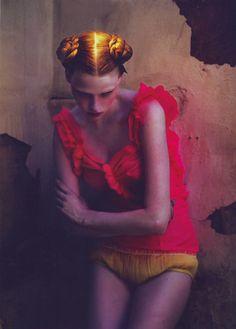 Lara Stone - pink and gold
