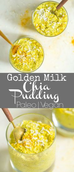 This super simple Golden Milk Chia Pudding can be made in less than 5 minutes! Such a refreshing delicious anti-inflammatory and nutrient dense treat! This super simple Go Healthy Food Habits, Healthy Diet Recipes, Healthy Foods To Eat, Health And Nutrition, Raw Food Recipes, Healthy Eating, Keto Recipes, Clean Eating, Chia Pudding