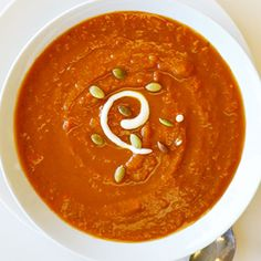 Pumpkin Soup With Toasted Pepitas